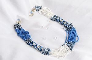 Ожерелье из бисера Под вышиванку