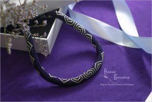 Beaded necklaces Аметистові спіралі