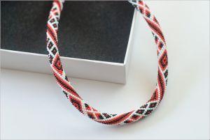 Beaded necklaces Ромби вишиванкові