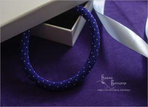 Ожерелье из бисера Звездная ночь