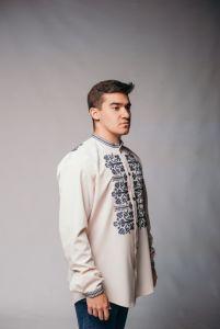 """Мужские вышиванки Рубашка """"Магия кремовая 8"""""""