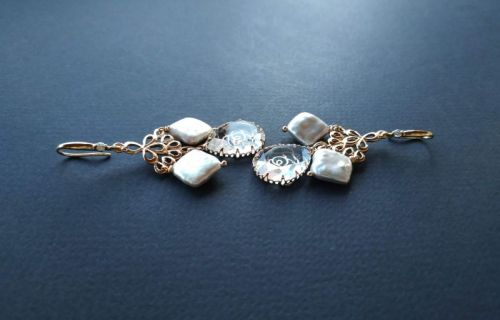 Сережки з колекції «Camellia» Арт. E140120Cam