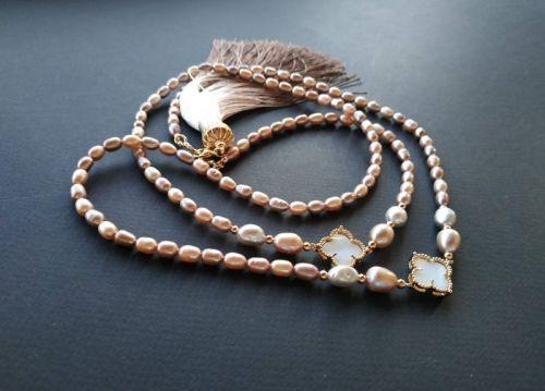 Ожерелье в стиле «Sautoire» из коллекции «Goddess of morning dawn» Арт. N040120GMD
