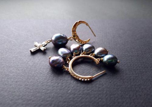 Серьги из коллекции «Seven Pearls» Арт. E26220SP - изображение 1