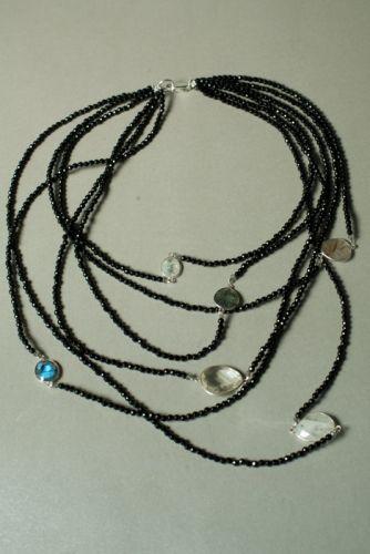Ожерелье в стиле «Checker» из коллекции «Sky Cairo»  Арт. N002SC