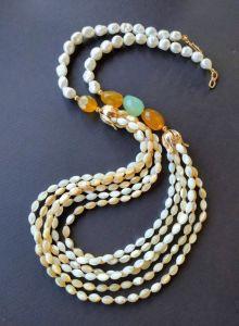 Ожерелья и колье ручной работы Ожерелье из коллекции «Spring song of flowers» Арт. N0402SSF