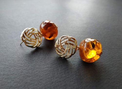 Сережки з колекції «Soleil dore en pierre» Арт. E2519SDEP