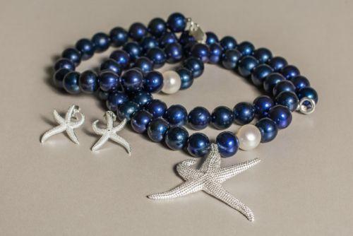 Комплект (намисто, браслет, сережки) з колекції «Starfish» Арт. NBE004SF