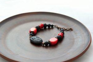 Браслеты ручной работы Браслет Черное и красное