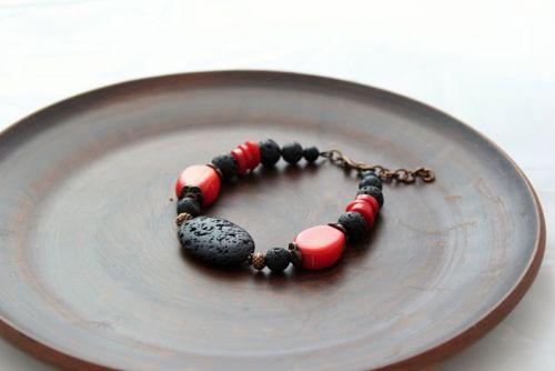 Браслет Черное и красное