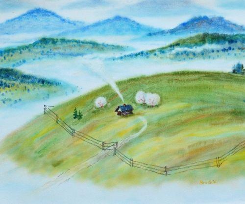 Карпатская весна над облаками