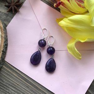 Фіолетові сережки Сережки «Компроміс»