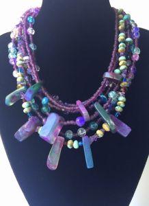Ожерелье из аметиста Хозяйка медной горы