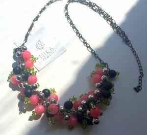 Ожерелье из бисера Дуэт крыжовника и смородины