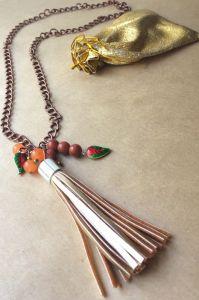 Ожерелье из халцедона Лучик для шейки
