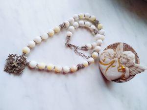 Ожерелье ручной работы Бусы из перламутра