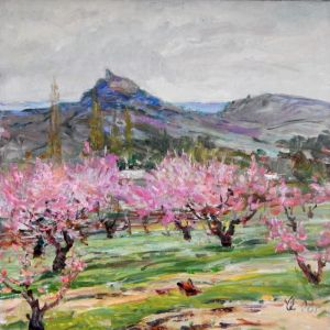 Нарисованные картины В персиковом саду
