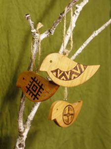 Різне Пташечки-підвіски, набір з трьох пташок