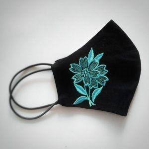 Аксессуары ручной работы МАСКА с вышивкой ЦВЕТОК