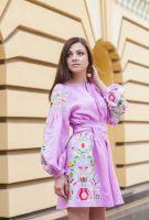 Платье сиреневое Вишитий оберег