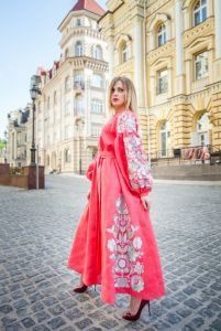Чигирин Екатерина Платье коралловое Чудо-птица