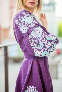 Платье фиолетовое Чудо-птица