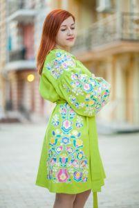 Чигирин Екатерина Платье зеленое Вишитий оберег