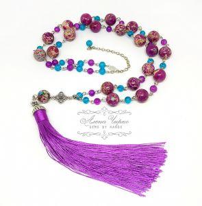 "Ожерелье из варисцита Сотуар с кистью ""Калифорния"""