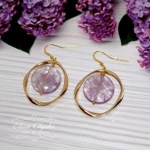 """Фіолетові сережки Сережки з аметрином """"Віолетта"""""""