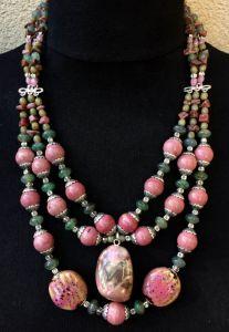 Ожерелье из родонита Ожерелье 24