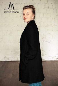 Модная женская одежда Мериносовое пальто ручной работы