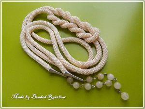 """Ожерелье из кварца Лариат """"Нежность"""" 160 см"""