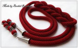 "Beaded necklaces Ларіат ""Стигла вишня"""