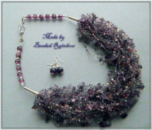 Колье и серьги Lilac