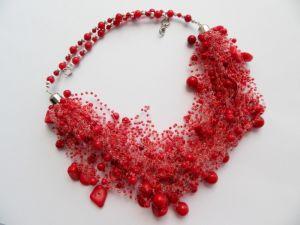 Ожерелье из коралла Ожерелье Калиновое