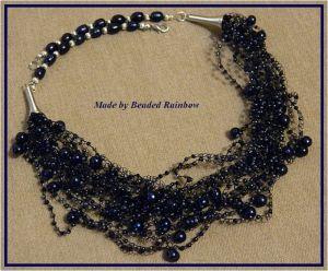 Ожерелье из бисера Ожерелье Новогодняя ночь