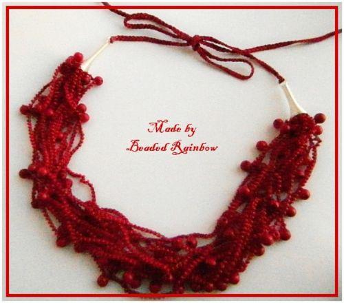 Ожерелье Калиновые гроздья