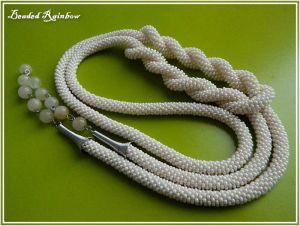 """Ожерелье из бисера Лариат """"Нежность"""""""