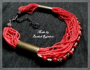 Ожерелье из бисера Этно ожерелье под шею
