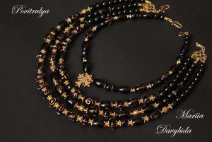 Ожерелье из оникса Кудрявая Екатерина