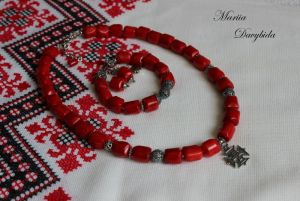 Ожерелье из коралла Желание