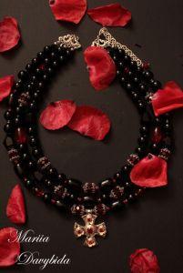 Ожерелье из оникса Червона рута