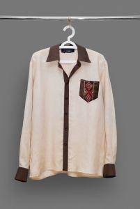 Сорочка мужская с вышитым карманом