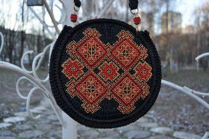 Атласная сумка Сумочка «Магия орнамента»