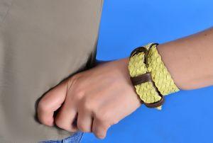 Вироби зі шкіри ручної роботи Плетений браслет