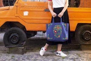 Еко сумка ручної роботи Сумка-шопер Calavera de flores