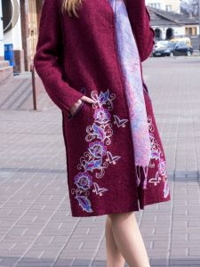 Пальто ручної роботи Пальто з вишивкою