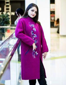 Модная женская одежда Пальто с вышивкой