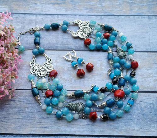 "Ожерелье ""Карибское море"" - изображение 1"
