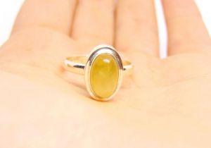 Кольца ручной работы Кольцо с желтым сердоликом